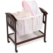 Summer Infant® Bedtime Blossom Classic Comfort Wood Bassinet, Pink/Black (26210A)