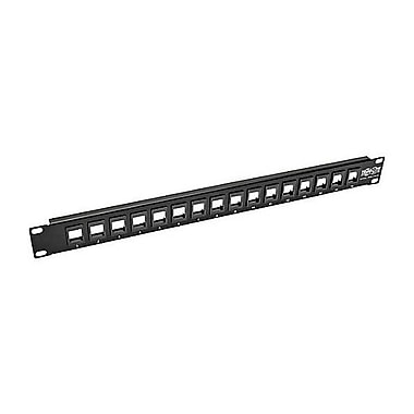 Tripp Lite 16-Port 1U Rack-Mount Unshielded Blank Keystone/Multimedia Patch Panel, Black (N062-016-KJ)