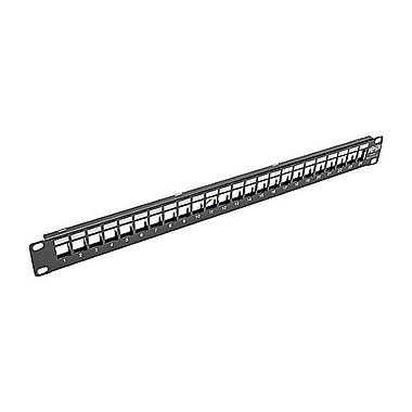Tripp Lite 24-Port 2U Rack-Mount Unshielded Blank Keystone/Multimedia Patch Panel, Black (N062-024-KJ)