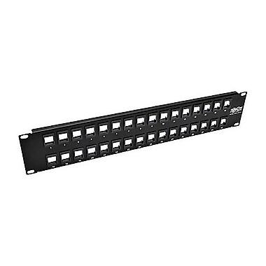 Tripp Lite 32-Port 2U Rack-Mount Unshielded Blank Keystone/Multimedia Patch Panel, Black (N062-032-KJ) (12364459)