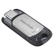 SanDisk® Ultra® Type-C USB 3.1 Flash Drive, 16GB, Black/Silver (SDCZ450-016G-A46)