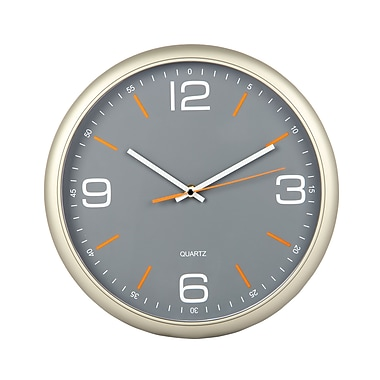 Tempus Contemporary Wall Clock with Silent Sweep Quiet Movement, 11.8