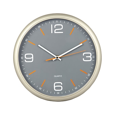 TEMPUS Contemporary Wall Clock with Silent Sweep Quiet Movement, Plastic 11.8