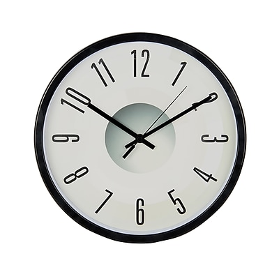 TEMPUS Contemporary Wall Clock with Silent Sweep Quiet Movement, Plastic 11.75
