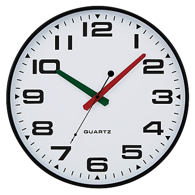TEMPUS Contemporary Wall Clock with Silent Sweep Quiet Movement, Plastic 13