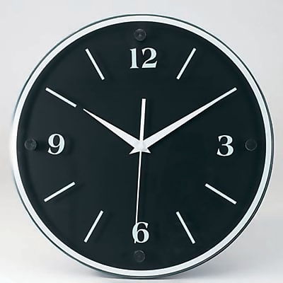 TEMPUS Transitional Wall Clock with Daylight Savings Auto-Adjust Movement, Wood 12