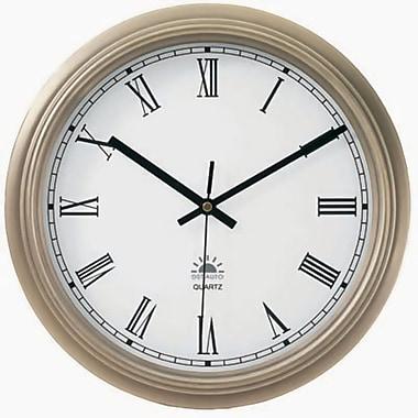 Tempus Transitional Metal Wall Clock with Daylight Savings Auto-Adjust Movement, 12.5