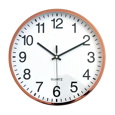 Tempus Contemporary Metal Wall Clock with Silent Sweep Quiet Movement, 12