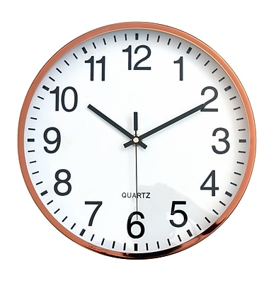 TEMPUS Contemporary Wall Clock with Silent Sweep Quiet Movement, Metal 12