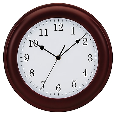 Tempus Traditional Wood Wall Clock, 12
