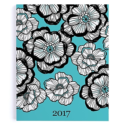 "Erin Condren, Monthly Planner, Bold Bouquet, 7"" x 9"", Turquoise (BYO MP 37)"