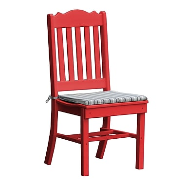 Radionic Hi Tech Oxford Dining Side Chair; Red