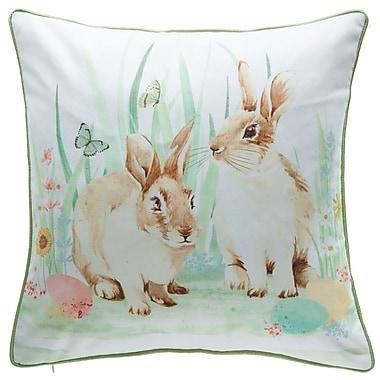 14 Karat Home Inc. Easter Bunny Throw Pillow