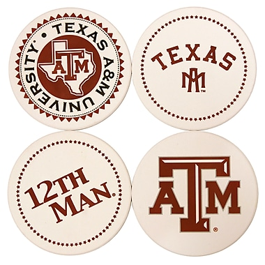 Great Finds Round Coaster (Set of 4); Texas A & M University