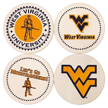 Great Finds Round Coaster (Set of 4); West Virginia University