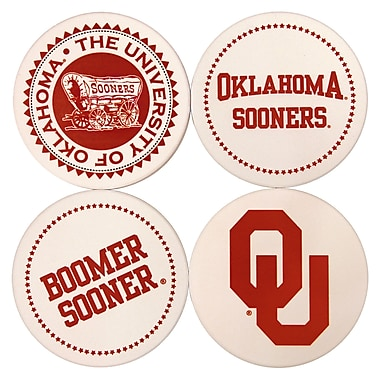 Great Finds Round Coaster (Set of 4); University of Oklahoma