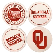 Great Finds Round Coaster (Set of 4); University of Oklahoma