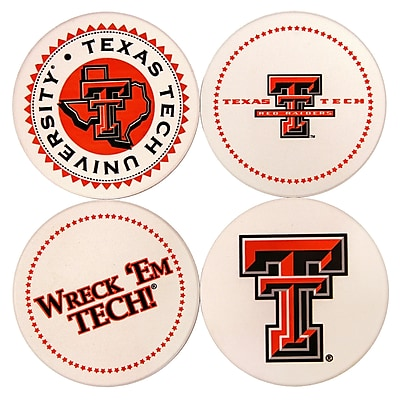 Great Finds Round Coaster (Set of 4); Texas Tech University