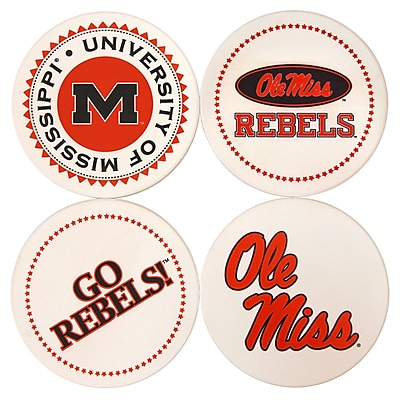 Great Finds Round Coaster (Set of 4); University of Mississippi