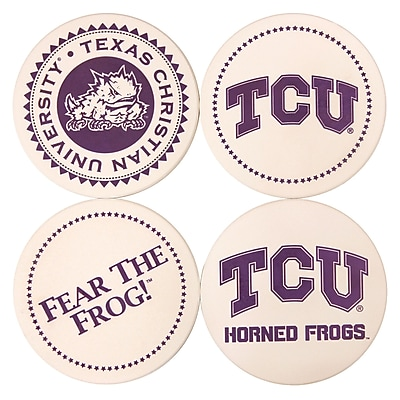 Great Finds Round Coaster (Set of 4); Texas Christian University