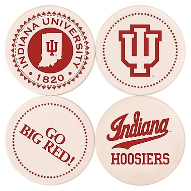 Great Finds Round Coaster (Set of 4); Indiana University
