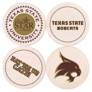 Great Finds Round Coaster (Set of 4); Texas State University
