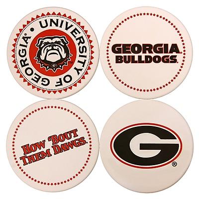 Great Finds Round Coaster (Set of 4); University of Georgia