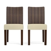 Bay Isle Home Kontemenos Rattan Side Chair (Set of 2); Tan