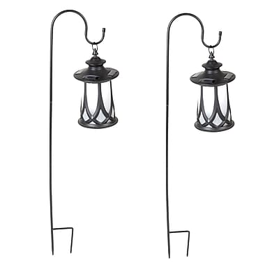 WinsomeHouse Traditional Solar 1-Light Pathway Light (Set of 2)