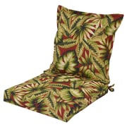 Bayou Breeze Arbury Pillow Back Outdoor Dining Chair Cushion w/ Ties