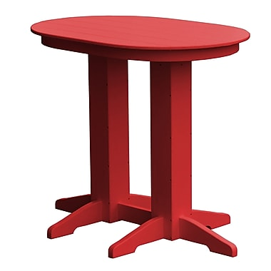 Radionic Hi Tech Rochester Bar Table; Red