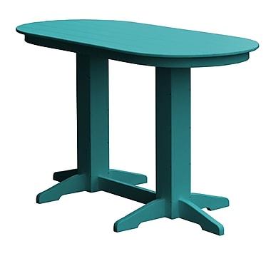 Radionic Hi Tech Rochester Bar Table; Ocean Blue