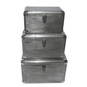 Cheungs 3 Piece Osum Trunk Set; Silver