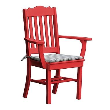Radionic Hi Tech Oxford Dining Arm Chair; Red