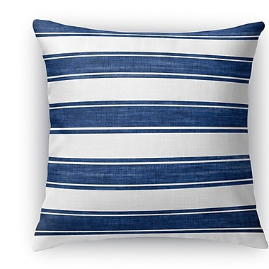 Longshore Tides Melton Stripe Burlap Indoor/Outdoor Throw Pillow; 26'' H x 26'' W x 5'' D