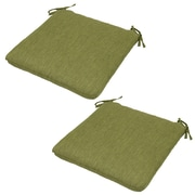 Winston Porter Outdoor Dining Chair Cushion w/ Ties (Set of 2); Green