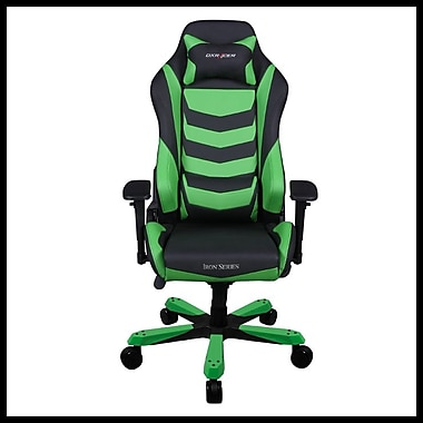 DX Racer Iron Series Professional Grade Gaming & Computer Chair, Black & Green
