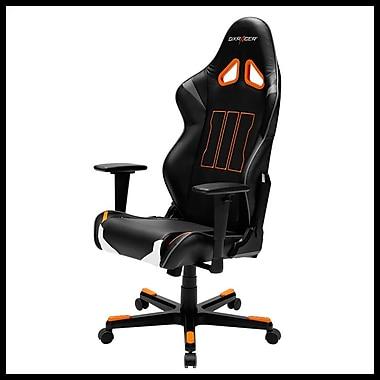 DX Racer - Fauteuil d'ordinateur et de jeu de la série Racing, professionnel, noir et orange