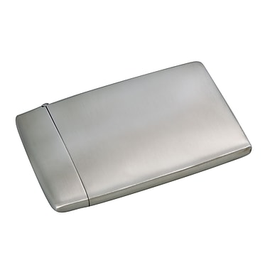 Elegance Card Case, Brushed Metal (73109)