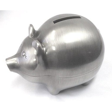 Elegance Pig Money Bank, Pewter-Plated (80034)