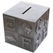 Elegance ABC Block Money Bank, Pewter-Plated (80881)