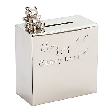 Elegance – Tirelire My 1st Money Bank avec petit ours, nickelé (80887)