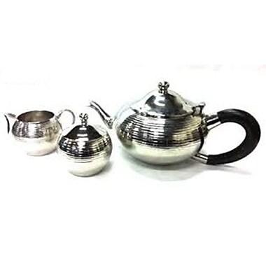 Elegance 3-Piece Tea Set, Nickel-Plated (72917)