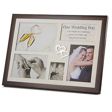 Elegance – Cadre photo pour collage Wedding Day avec ornements en cœur (64851)