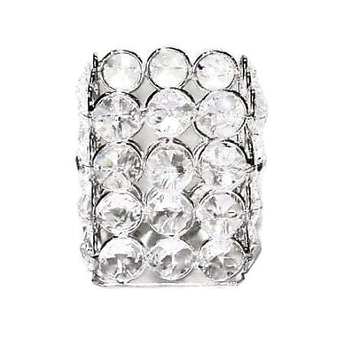 Elegance Sparkle Crystal Square Tealight Holder (72872)