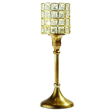 Elegance Square Crystal T-lite on Stand