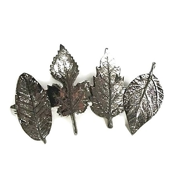 Elegance Leaf Napkin Rings, 4/Pack (72678)