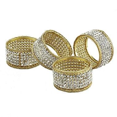 Elegance Brilliant Crystal Napkin Rings, 4/Pack (72848)