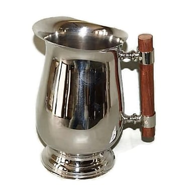Elegance – Pichet d'eau en acier inoxydable avec poignée en bois (72158)