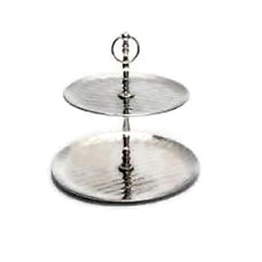 Elegance 2-Tier Cake Stand, Hammered Finish (72348)